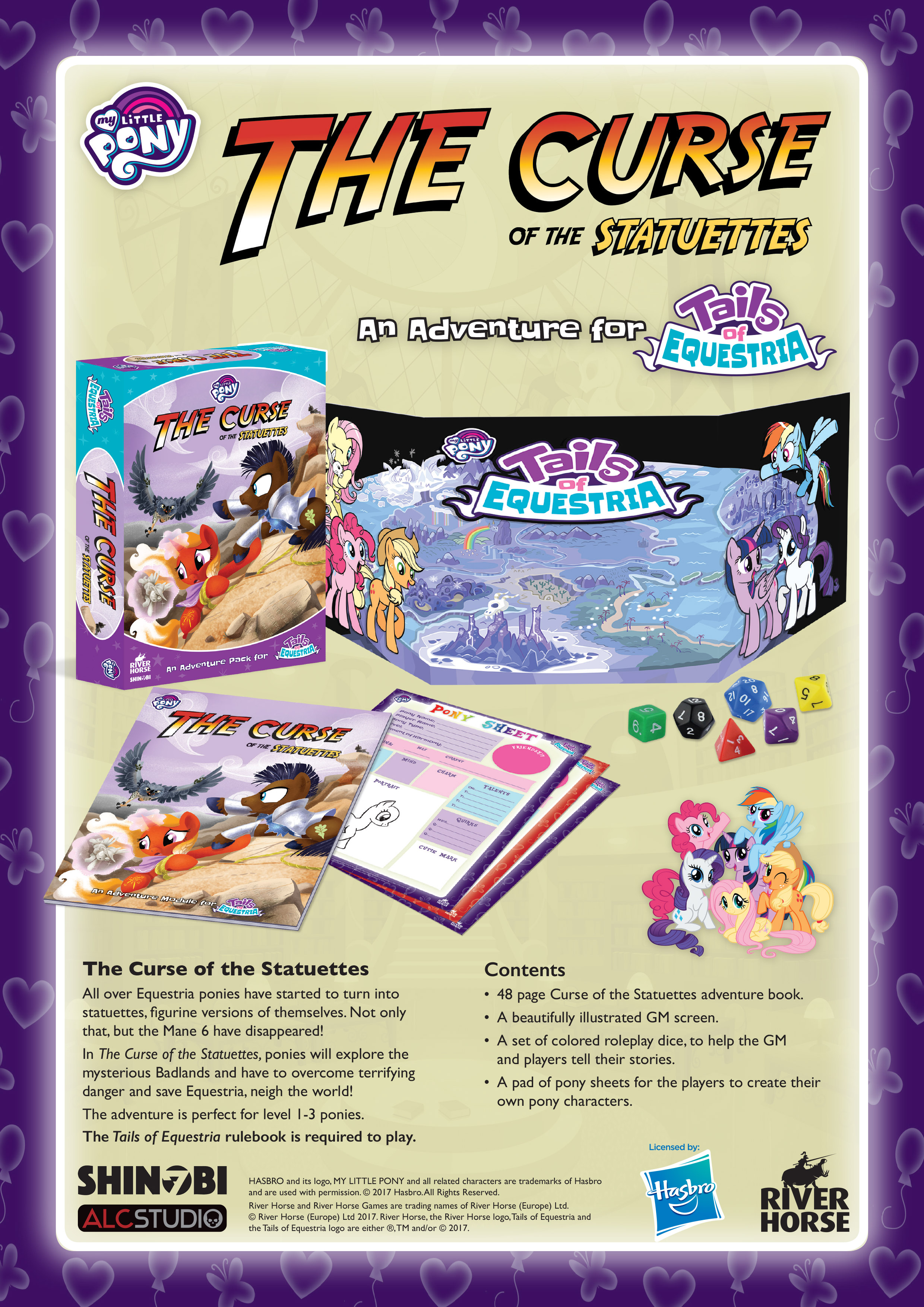 The Curse of the Statuettes: Tails of Equestria MLP RPG (T.O.S.) -  River Horse