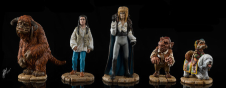 Painted miniatures from Jim Henson's Labyrinth the Board Game by River Horse