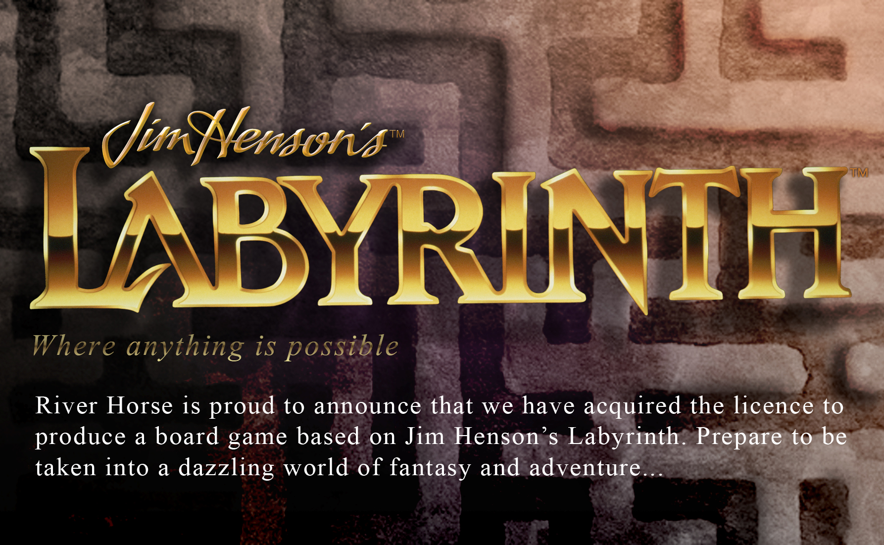 Teaser for Jim Henson's Labyrinth the Board Game by River Horse