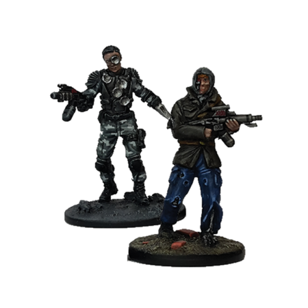 T-1000 and infiltrator pack from Terminator Genisys the Miniatures Game by River Horse