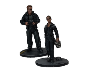 Guardian and Sarah Connor double pack for Terminator Genisys the Miniatures Game by River Horse