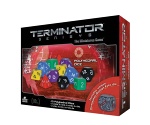 Polyhedral Dice from Terminator Genisys the Miniatures Game by River Horse