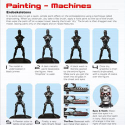 Terminator Endoskeletons painting guide for Terminator Genisys The Miniatures Game by River Horse
