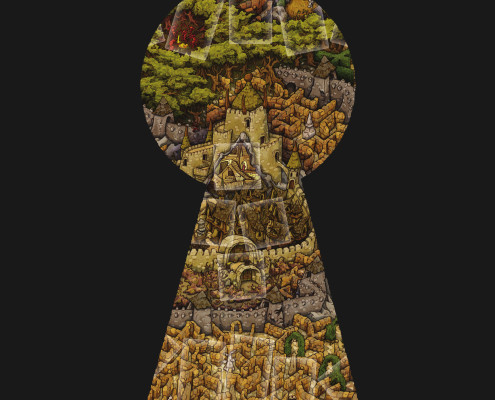 A preview of the Board artwork from Jim Henson's Labyrinth the Board Game by River Horse