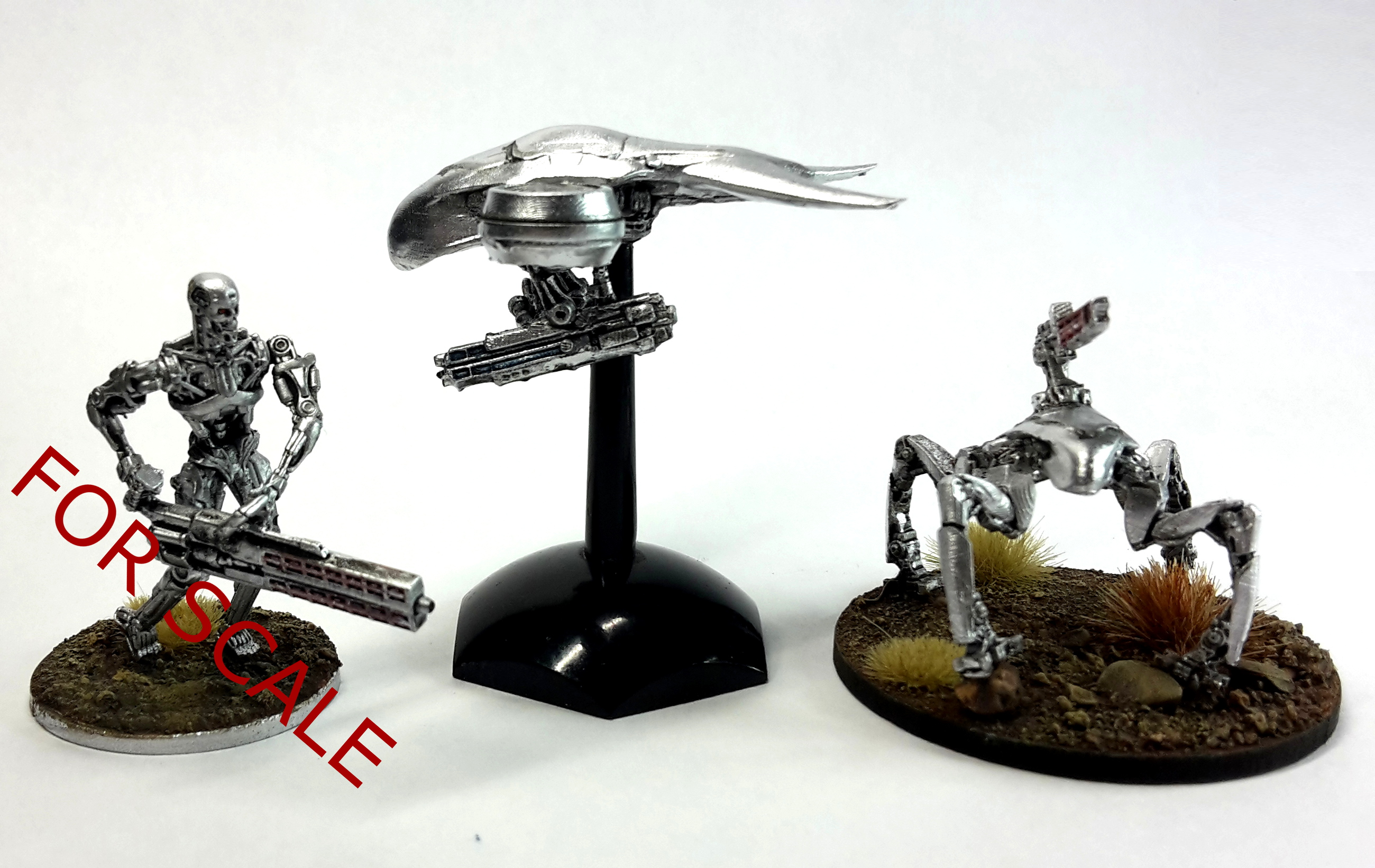 HK-8 Flying Drone aka 'Buzzer' and T-72 Gun Platform aka 'Spider-dog' set for Terminator Genisys The Miniatures Game by River Horse