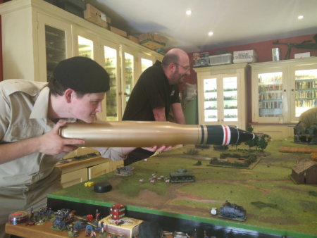 War Gamers Looking at the Inflatable Shells by River Horse