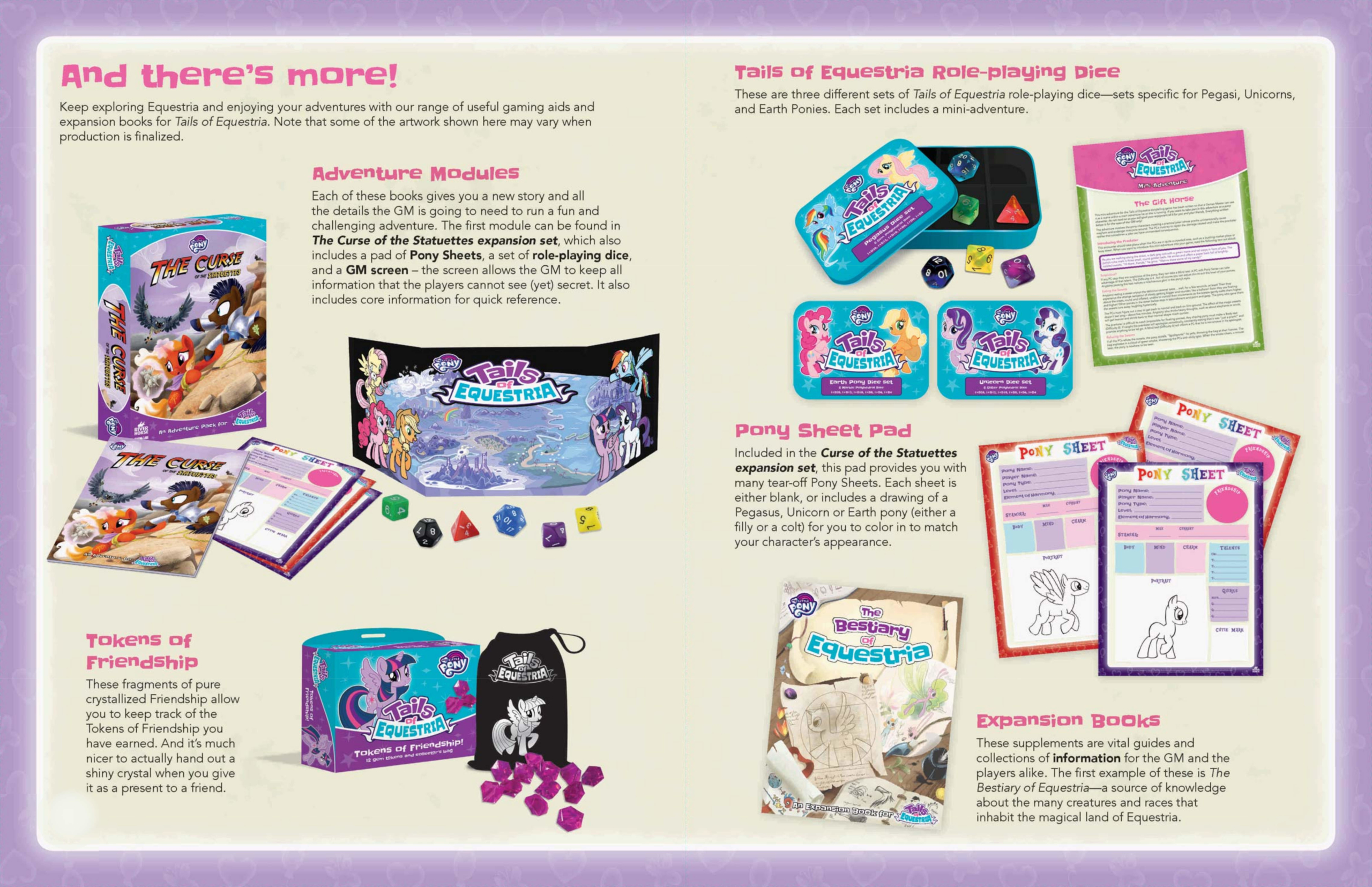 Product Preview of the Tails of Equestria range by River Horse