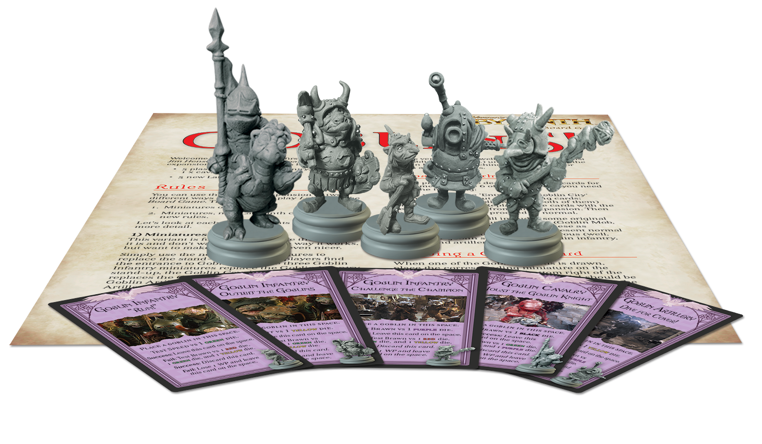 Components of the Goblins! Expansion for Jim Henson's Labyrinth the Board Game by River Horse