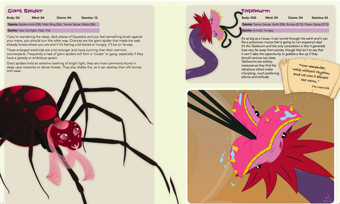 Bestiary of Equestria cover - Preview Content for Tails of Equestria by River Horse