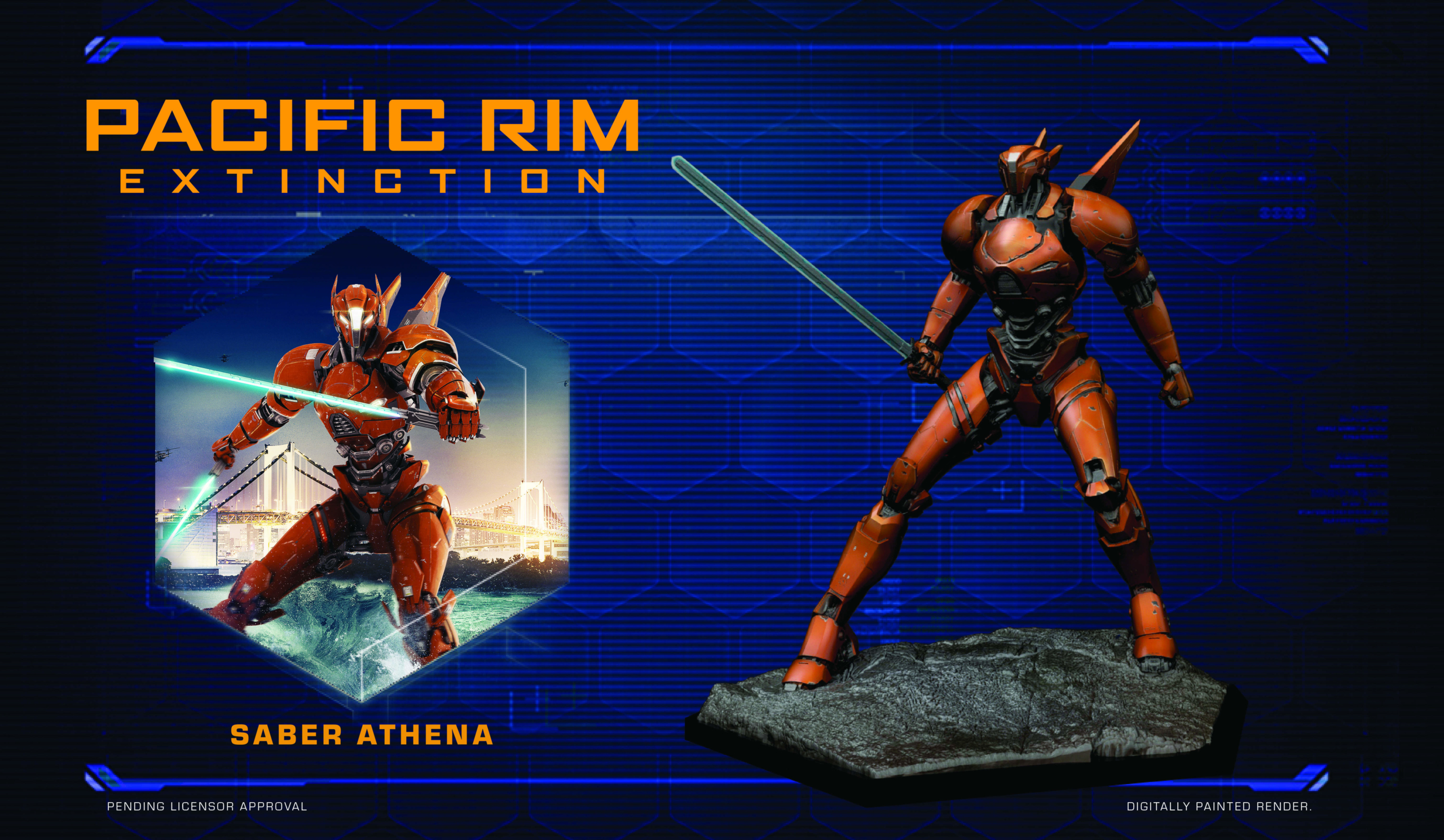 Full colour render of Saber Athena for Pacific Rim: Extinction by River Horse