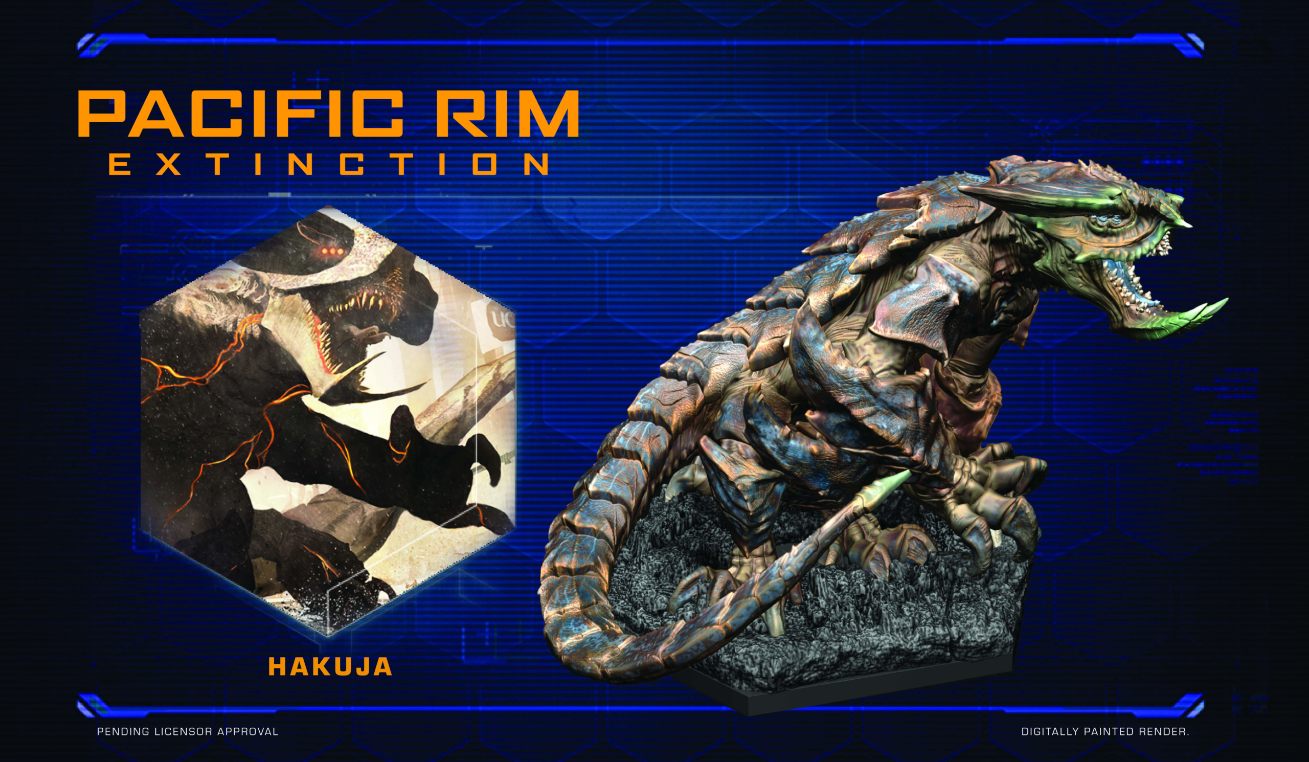 Full colour render of Hakuja for Pacific Rim: Extinction by River Horse