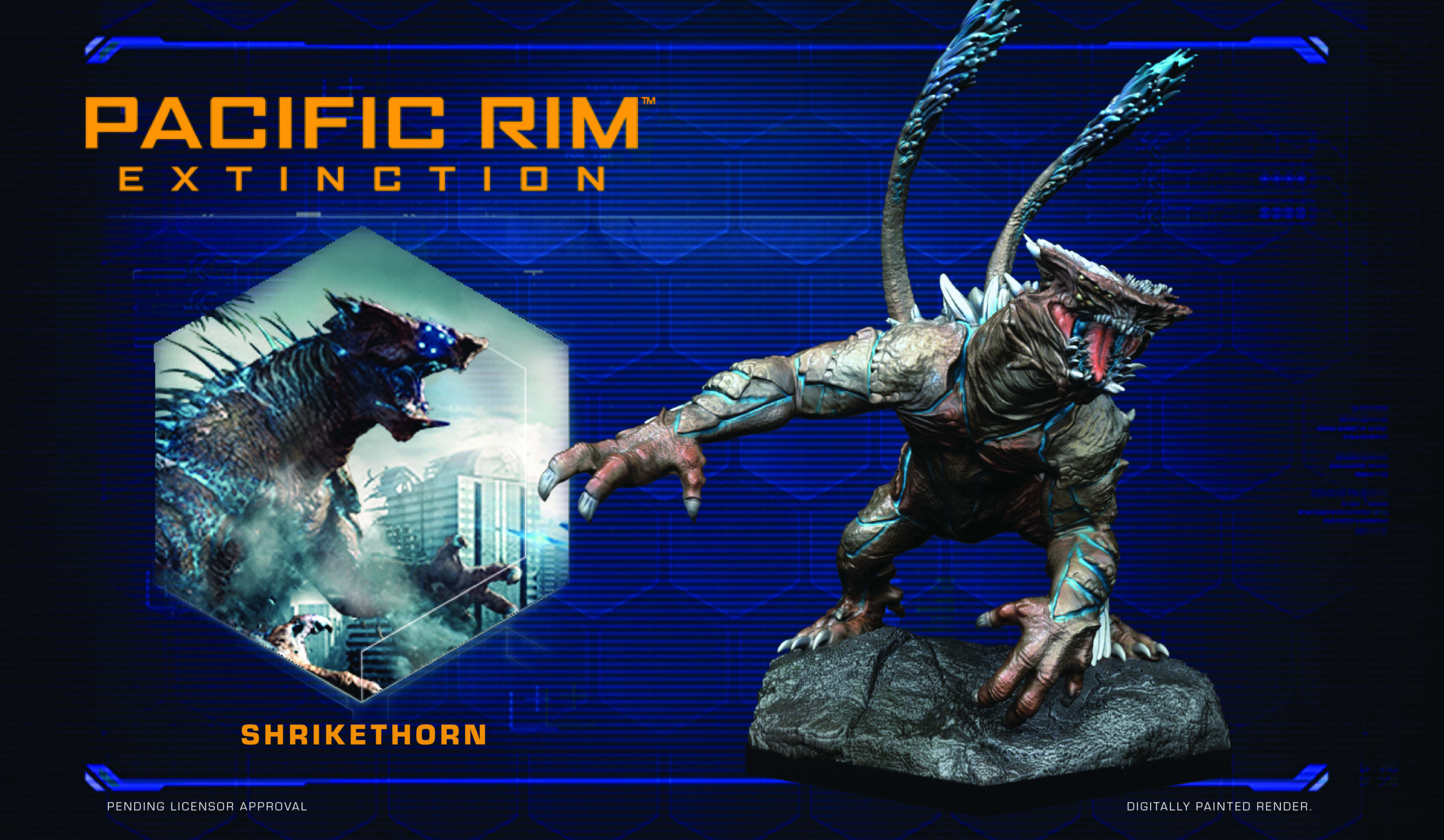 Full colour render of Shrikethorn for Pacific Rim: Extinction by River Horse
