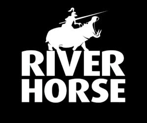 River Horse Logo - Black & White
