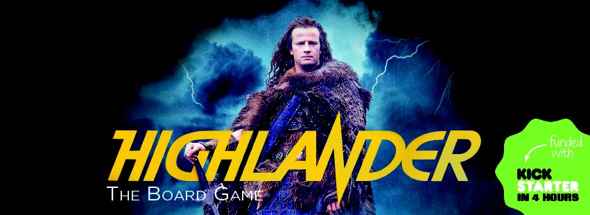 Web banner for Highlander the Board Game by River Horse