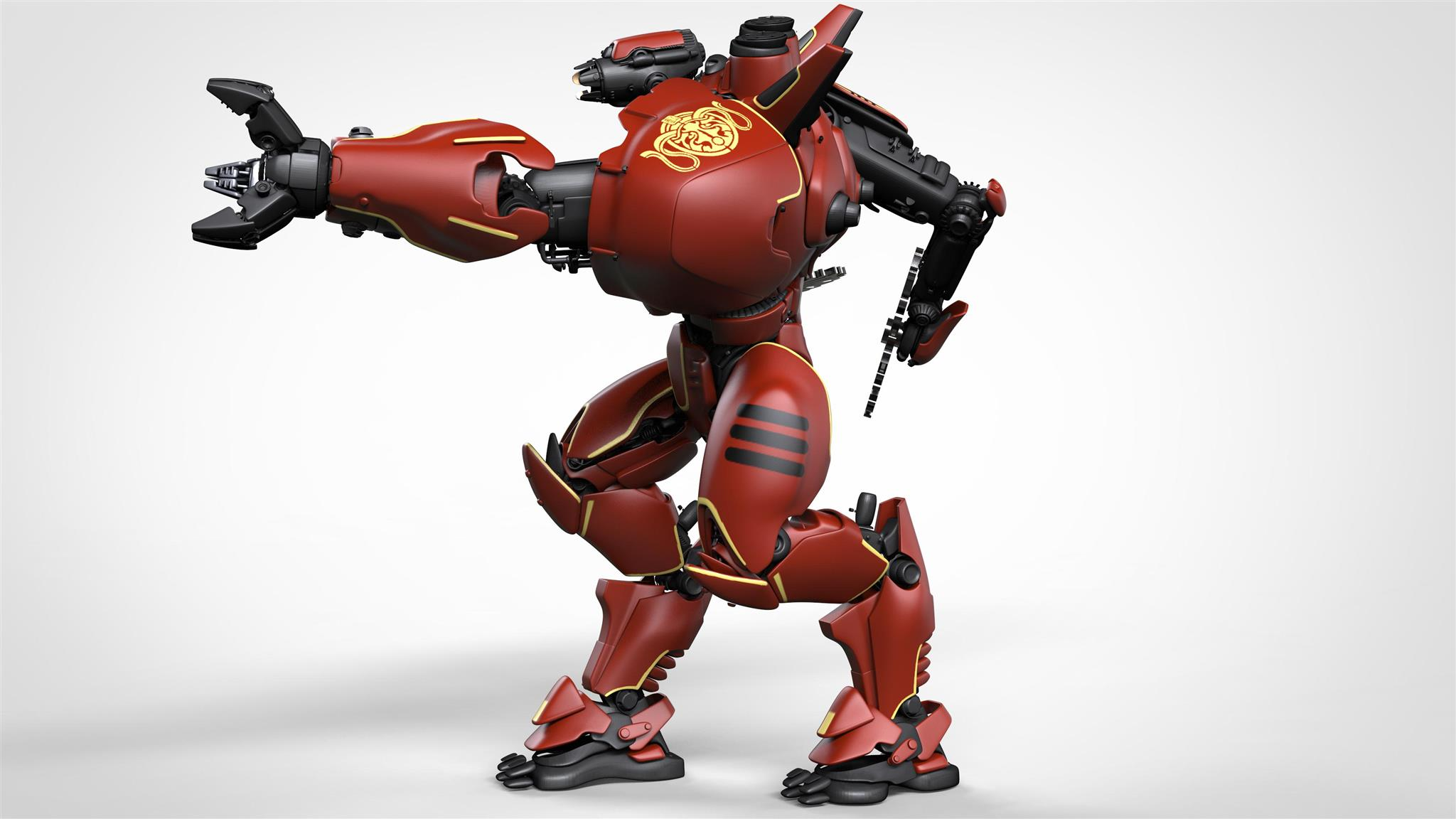 Full Colour Render of Crimson Typhoon for Pacific Rim: Extinction by River Horse