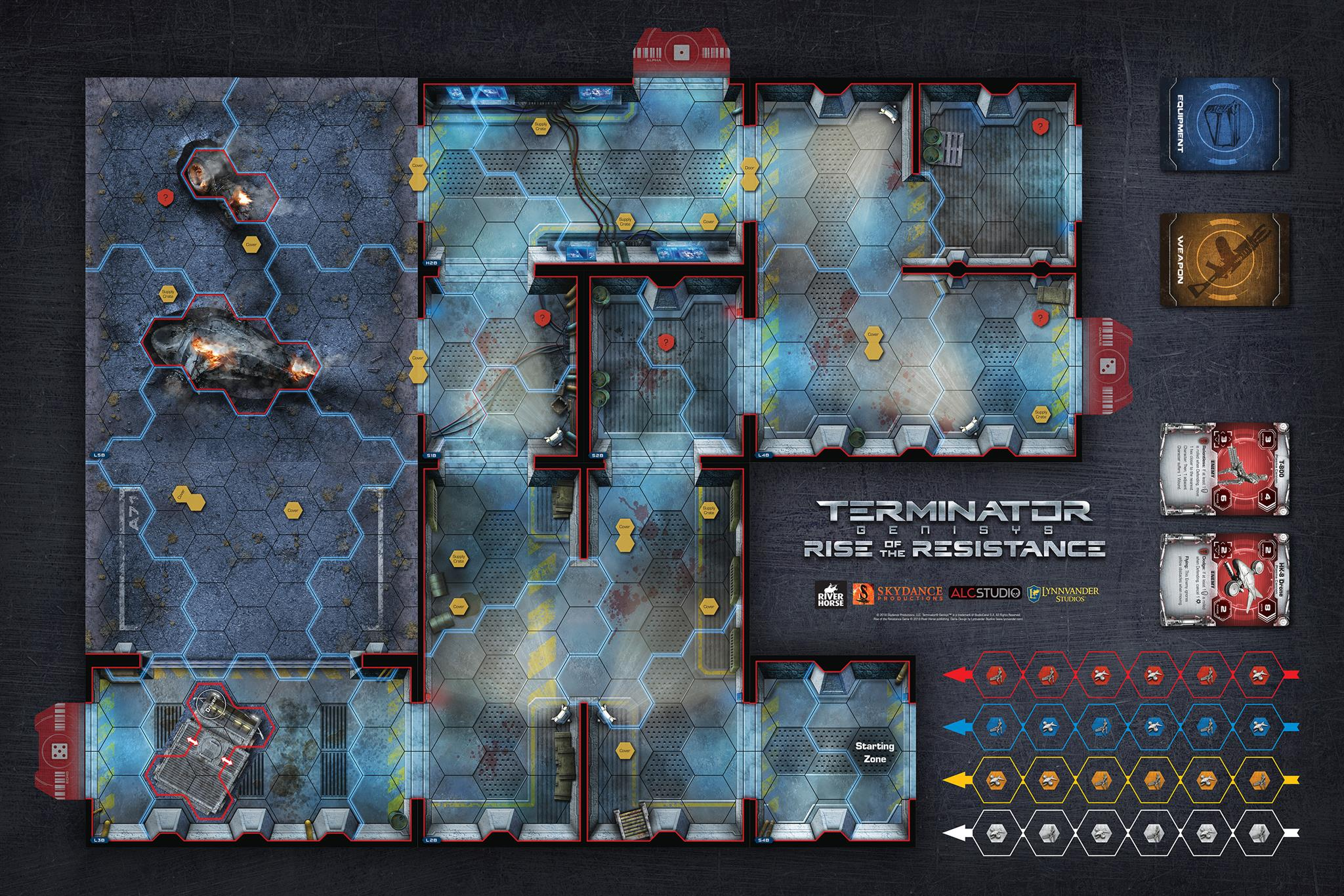 GenCon Demo playmat for Terminator Genisys: Rise of the Resistance by River Horse