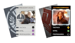 Character Cards from The Hunger Games: Mockingjay - The Board Game by River Horse