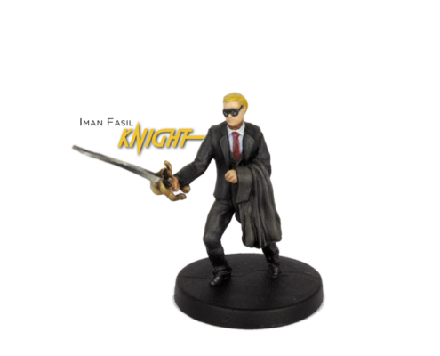 Painted example of Knight (Modern) from Highlander The Board Game by River Horse