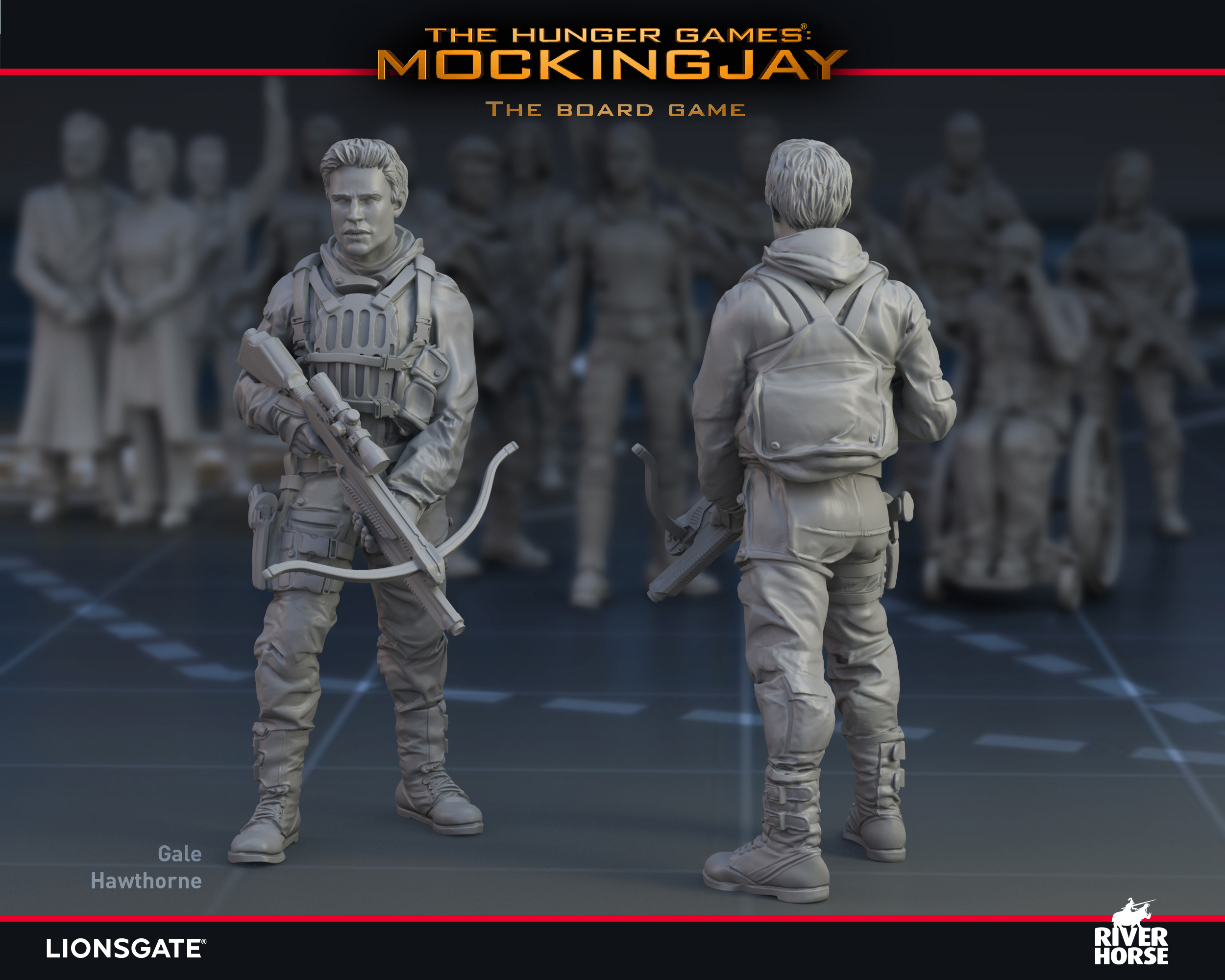 Render of Gale Hawthorne for The Hunger Games: Mockingjay - The Board Game by River Horse