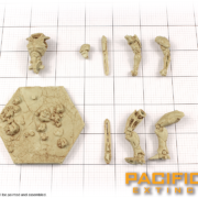 Unpainted Model parts of Obsidian Fury from Pacific Rim: Extinction by River Horse