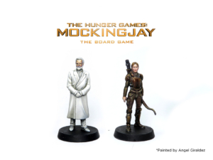 Katniss and President Snow painted by Angel Giraldez from The Hunger Games: Mockingjay - The Board Game by River Horse
