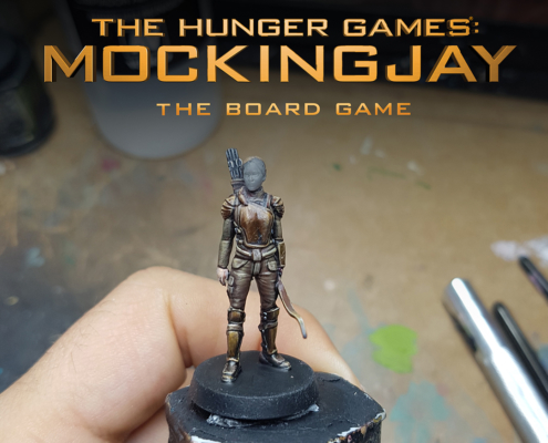 Painted Katniss by Angel Giraldez Work in Progress for The Hunger Games: Mockingjay - The Board Game by River Horse