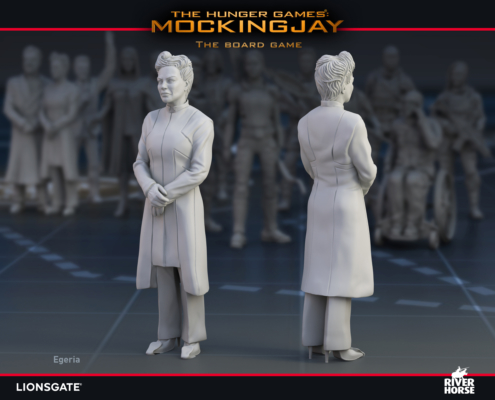 Render of Egeria for The Hunger Games: Mockingjay - The Board Game by River Horse