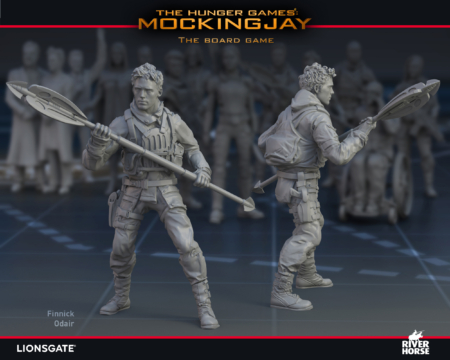 Render of Finnick for The Hunger Games: Mockingjay - The Board Game by River Horse