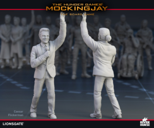 Render of Caesar Flickerman for The Hunger Games: Mockingjay - The Board Game by River Horse