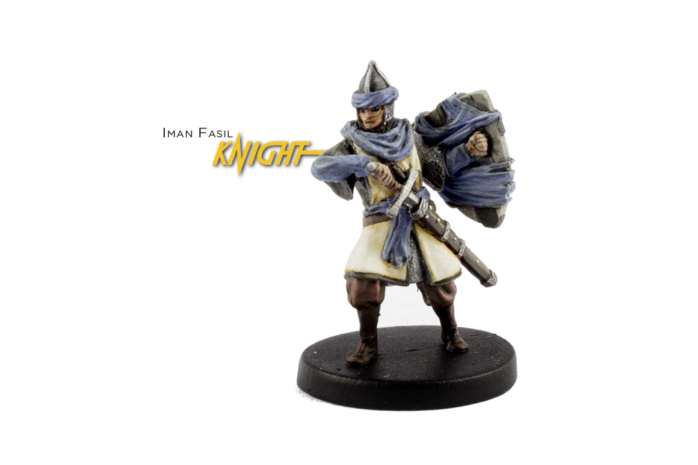 Painted example of Knight (ancient) from Highlander The Board Game by River Horse