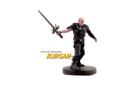 Painted example of The Kurgan (modern) from Highlander The Board Game by River Horse