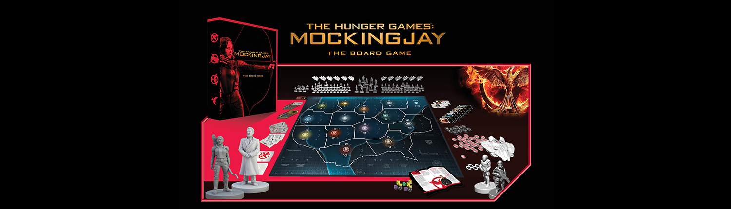 Website Banner for The Hunger Games: Mockingjay - The Board Game by River Horse