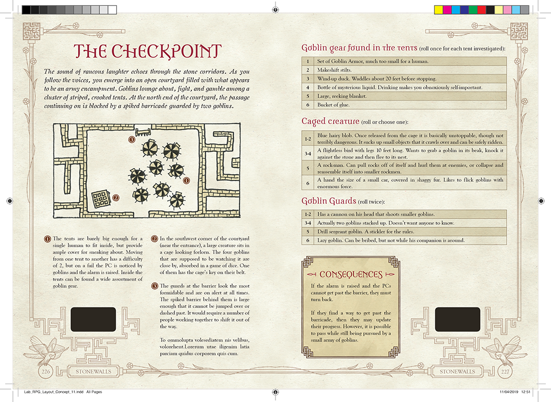 The Checkpoint a scenario from Jim Henson's Labyrinth the Adventure Game by River Horse