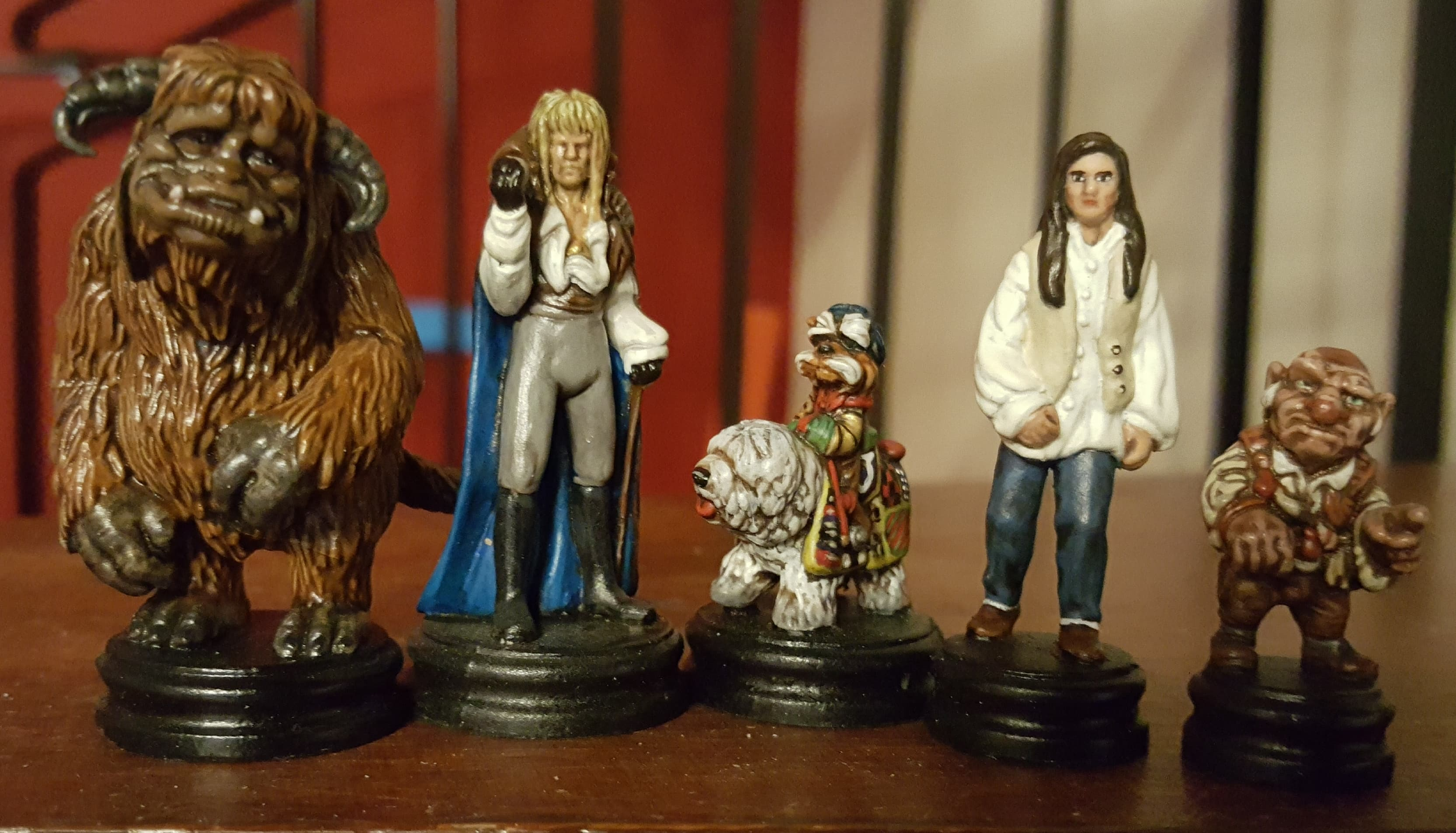 Painted Characters from Jim Hensons Labyrinth the Board Game by River Horse