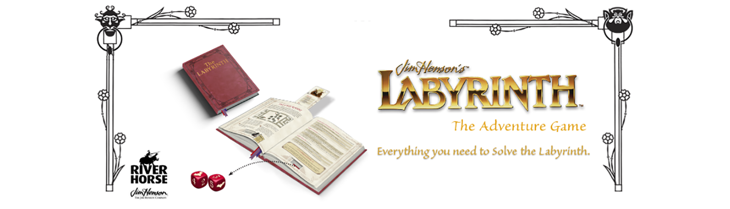 Web Banner for Jim Henson's Labyrinth the Adventure Game by River Horse