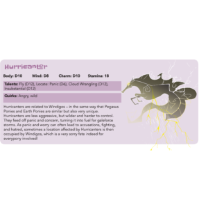 Creature Feature: Hurricanter - Tails of Equestria by River Horse Games